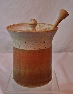 North Carolina Pottery Honey Pot w/ Lid and Dipper by Sharpe Pots Signed LJS | eBay