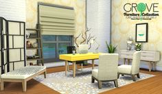 """lumialoversims: """"kiwisims4: """"peacemaker-ic: """"Grove Furniture Collection - Peace's Place Followers GiftThe time has finally come to share with you my first object meshes made from scratch. It is also..."""