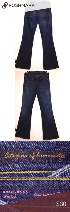 "▪️Citizens of Humanity Jeans▪️ ✔️10% OFF Bundles Plus FREE SHIPPING!✔️ Citizens of Humanity ""Naomi"" Jeans in size 25 with a 31"" inseam come in LIKE NEW condition! Low 7"" rise, flare, dark wash! My prices fluctuate often for sales & specials, so catch your favorite items when prices are low. Thank you shopping my closet. Mahalo!🤙🏼♥️ Citizens Of Humanity Jeans Flare & Wide Leg"