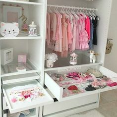 All white closet for girls toddlers room, all white and pink girls room, little girls room ideas Girls Bedroom, Baby Bedroom, Baby Room Decor, Nursery Room, Bedroom Ideas, Baby Room Closet, Kid Closet, Closet Ideas, Toddler Rooms