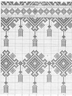 Cross Stitch Geometric, Cross Stitch Art, Cross Stitch Borders, Cross Stitch Designs, Cross Stitch Patterns, Blackwork Embroidery, Cross Stitch Embroidery, Hand Embroidery Patterns Flowers, Embroidery Designs