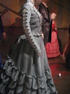 Detail of a dress designed by Colleen Atwood, worn by Jayne Wisener in Sweeney Todd (2007)