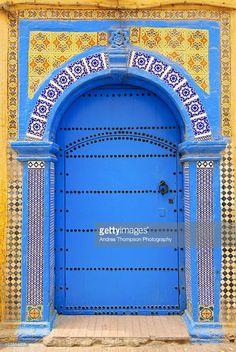 Foto stock : Ornate Moroccan doorway, Essaouira, Morocco, Middle East, North…