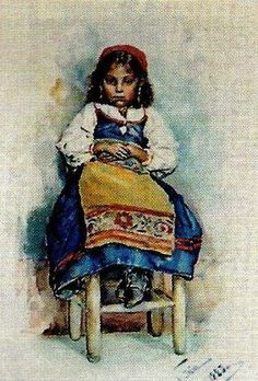 Gypsy Girl On Chair Jenny Nystrom (1854 – 1946, Swedish)