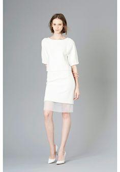 LE CIEL BLEU Ripple top and skirt