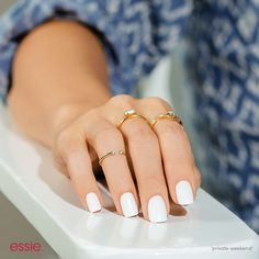 Nail care and nail polish white summer nails, white short nails, na Love Nails, How To Do Nails, Pretty Nails, My Nails, White Short Nails, White Summer Nails, Summer Nail Colors, Nails Gelish, White Manicure