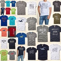 NWT Hollister Co HCO Men Tamarack T-shirt Graphic Muscle Fit All Size S M L XL