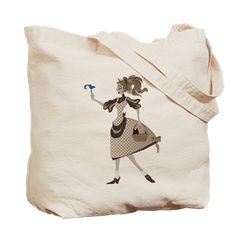 Shop Azodnem: Vintage Dorothy Tote Bag: Oz Fact: In the Oz books, Dorothy Gale is an orphan, raised by her aunt and uncle in the bleak landscape of a poor Kansas farm. Wizard Of Oz Gifts, Tote Bag, Bags, Shopping, Vintage, Handbags, Carry Bag, Tote Bags, Totes