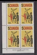 Canada #483 5c Yellow Blck Red 1968 Lacrosse Players VF 75/80 NH DF/LFSD No 1 LL