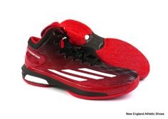 adidas men Crazy Light Boost basketball shoes sneakers - Scarlet / White / Black #adidas #BasketballShoes