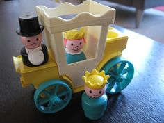 No wonder we grew up thinking we should be treated royally. Fisher Price Little People Prince, Princess, Carriage, Carriage Driver Jouets Fisher Price, Fisher Price Toys, Vintage Fisher Price, 1970s Childhood, Childhood Toys, My Childhood Memories, 1970s Toys, Retro Toys, 1980s
