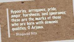 Qualities of a devil (demon).