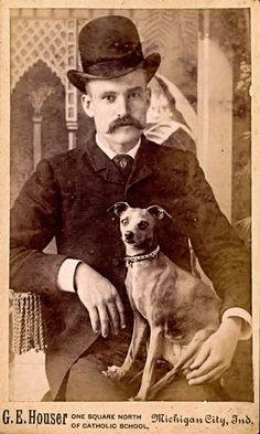 Hot Vintage Men: The Handsome Man from Michigan City and His Dog