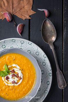 © Mis Lutier: Crema de zanahoria con taquitos de jamón