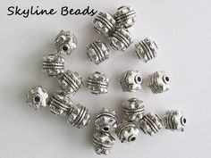 Tibetan Style Beads Antique Silver 10mm x 10mm by SkylineBeads, $5.25 #HEPTEAM  #skylinebeads