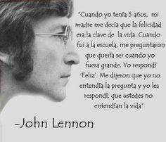 Sabias palabras de John Lennon. En mi opinión, la diferencia entre entender la pregunta y entender el sentido de la pregunta.