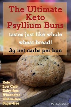 No carb diets 567453621798756694 - My PCOS Kitchen – Keto Psyllium Buns (Gluten-free) – These low carb buns are guaranteed to impress the whole family! Taste just like wheat buns! Low Carb Buns, Low Carb Bread, Low Carb Diet, Paleo Diet, Bread Diet, Dukan Diet, Vegetarian Cooking, Ketogenic Recipes, Low Carb Recipes