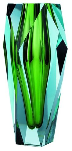 Glass Vase in Emerald Green by Moser Glass Art / Design / Home Decor / Blue-Green.