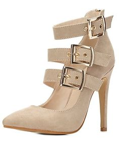 Buckled Strappy High Heels: Charlotte Russe