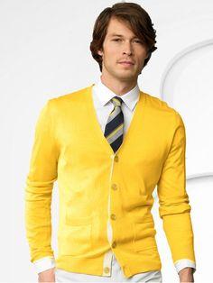 Yellow Cardigan Sweater
