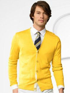 The high buttons and color make it ideal for ties.