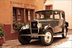 Peugeot 201 - Body style 4-door Saloon of 1930 or 1931 in Riquewihr, Alsace, France. The 201 was the first Peugeot to carry a name comprising three numerals with a central zero. The Peugeot 201 is a car that Peugeot produced between 1929 and 1937.