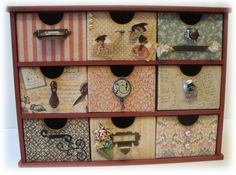 Love these A Ladies' Diary Graphic 45 Storage Drawers by @Valery Klassen! Gorgeous! #graphic45