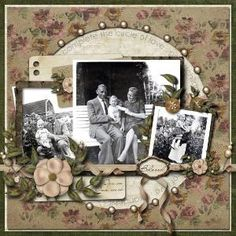 Heritage Scrapbook page ideas by polly
