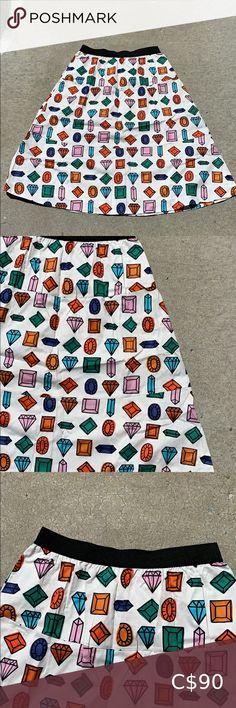 Maeve Long Diamond Skirt honestly the boldest skirt! needs the right human ❤️ Anthropologie Skirts A-Line or Full Coral Skirt, Gold Skirt, Leaf Skirt, Swing Skirt, Sweater Skirt, Floral Romper, Flare Skirt, Anthropologie