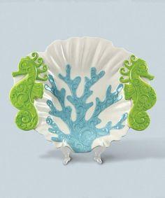 Look at this #zulilyfind! Ceramic Aquatic Platter #zulilyfinds