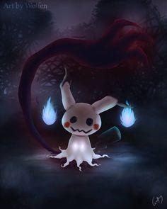 Mimikyu Pokemon by Maucen on DeviantArt Pokemon Team, Pokemon Fan Art, Pokemon Luna, Touko Pokemon, Ghost Type Pokemon, All Pokemon, Pokemon Fantasma, Creepy Pokemon, Digital Foto