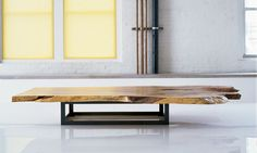 SPALTED MAPLE LOW TABLE WITH COLD ROLLED STEEL BASE