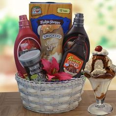 I Scream You Scream Ice Cream Gift Basket-- Keebler Waffle Cones, Smuckers caram. I Scream You Scream Ice Cream Gift Basket-- Keebler Waffle Cones, Smuckers caram. I Scream You Scream Ice Cream Gift Basket-- Keebler Waffle Cones, . Themed Gift Baskets, Raffle Baskets, Diy Gift Baskets, Summer Gift Baskets, Summer Gifts, Gift Basket Ideas, Theme Baskets, Gift Hampers, Easter Baskets