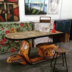 vespa table #alldecos #kembangsqr by alldecostudio