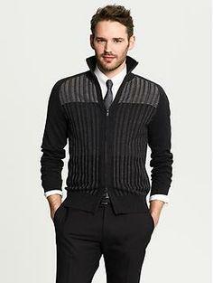high collar zip jacket mens