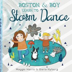 Children's book in paperback - 'Boston and Boy leart to Storm Dance' - a fun story of a boy & his dog solving their problem of the storm! by SmooshfaceUnited on Etsy