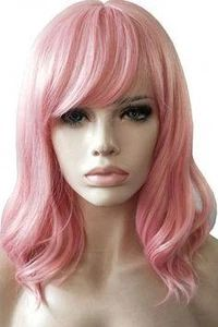 Ash style Medium flick cosplay costume wig in dark auburn red UK SELLER