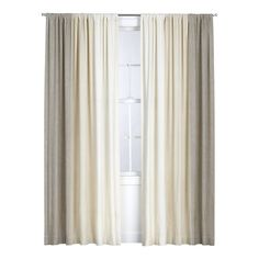 Petra Neutral Curtain Panel (ombre)