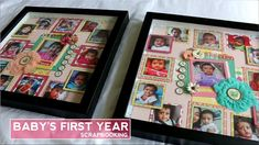 Today I am sharing one of the scrapbooking projects I recently completed. This is a Baby's First Year Photo frame for my two daughters. I hope you get some i. Scrapbook Examples, Scrapbook Designs, Diy Scrapbook, Scrapbooking, Diy Hair Bows, Diy Bow, First Year Photos, Babies First Year, Diy Frame