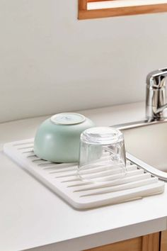 Shop Dish Drainer Tray at Urban Outfitters today. We carry all the latest styles, colors and brands for you to choose from right here. Kitchen Rack, Boho Kitchen, Kitchen Storage, Plate Storage, Storage Rack, Food Storage, Kitchen Decor, Kitchen Layout, Kitchen Colors