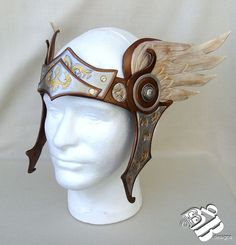 Made To Order Valkyrie Leather Headpiece by B3leatherdesigns
