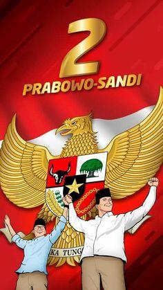 Prabowo-Sandiaga logo. Quote Posters, Creative Design, Ronald Mcdonald, Qoutes, Presidents, Education, History, Logos, 32 Bit