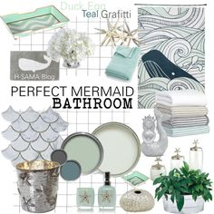 PERFECT MERMAID Bathroom By Hsama On Polyvore Featuring Interior,  Interiors, Interior Design, Home