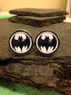 Batman Cufflinks Batman Tie Clip Batman Lapel Pin by JrocksJewelry