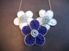 Zipper Jewelry Flower Necklace by SiennaSews on Etsy, $14.98 Free Shipping!!