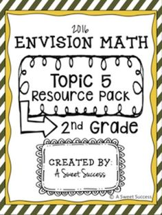 Worksheets Envision Math 2nd Grade Worksheets new envision math 2 0 2nd grade topic 13 resource pack this is the perfect complement to 2016 series for 2nd