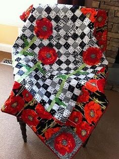 Poppies - Quilted Pear Studios I am watching for the perfect project to use my 2 yards of Flora.