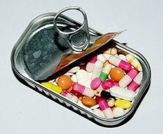 Canned Drugs without labels and instructions that should never cross your lips