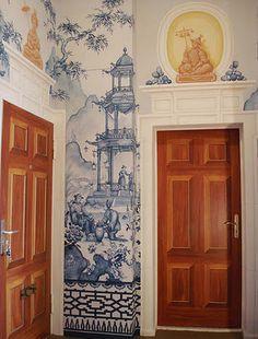 Michael Duté's chinoiserie murals