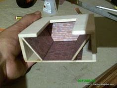 Free-standing miniature DIY fireplace - excellent images